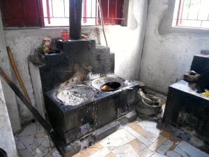 Modernized hotel kitchen
